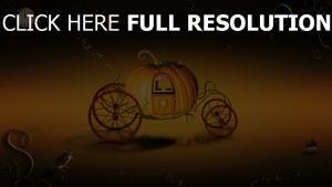 chariot citrouille halloween,