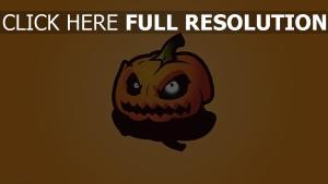 citrouille-lanterne regard colère halloween
