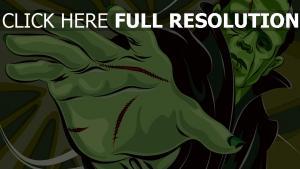 le monstre de frankenstein bras visage