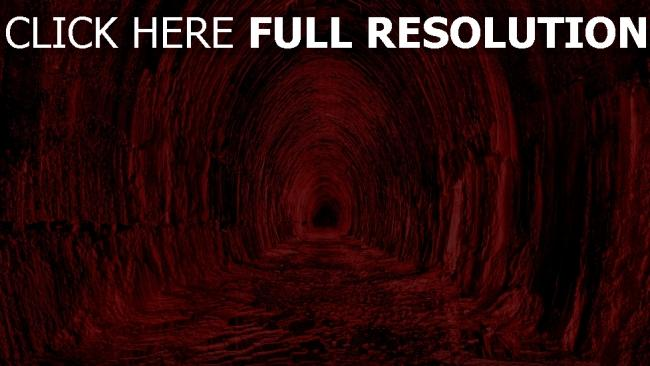 fond d'écran hd tunnel rouge terrible