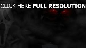 fantôme rouge regard colère