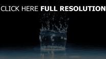 eau éclaboussure verre