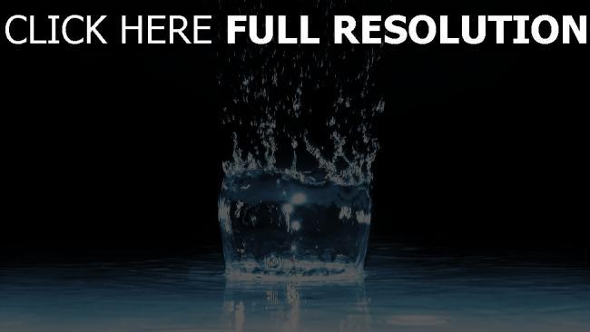 fond d'écran hd eau éclaboussure verre