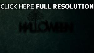 halloween inscription vert arrière-plan
