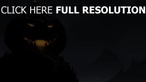 citrouille-lanterne grand illuminée nuit