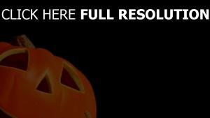citrouille-lanterne regard gros plan