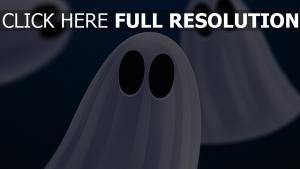 fantôme regard gros plan