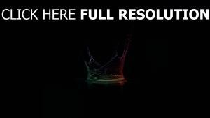 liquide multicolore éclaboussure