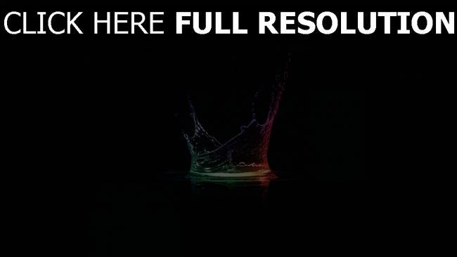 fond d'écran hd liquide multicolore éclaboussure