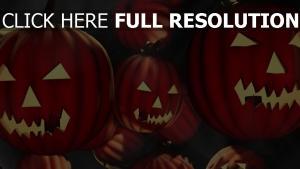 citrouille-lanterne sourire orange arrière-plan