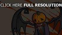 citrouille-lanterne aile triste halloween