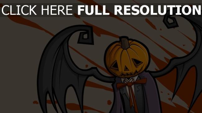 fond d'écran hd citrouille-lanterne aile triste halloween