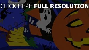 citrouille-lanterne fantôme collage halloween