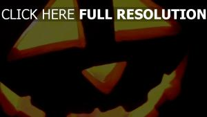 citrouille-lanterne illuminée regard