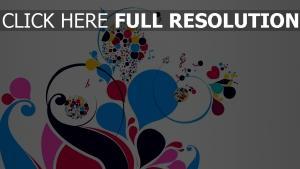 motif ligne courbe multicolore