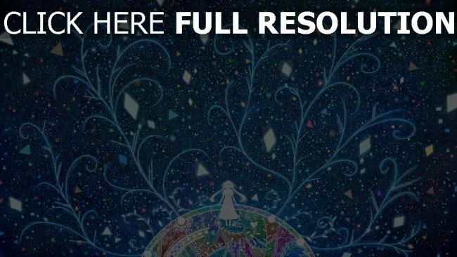 fond d'écran hd motif arbre multicolore