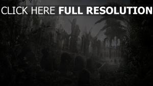 ruines château cimetière