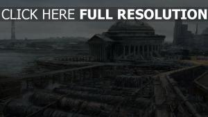 memorial jefferson ruines vue de côté fallout 3