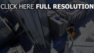 mirror's edge mégalopole faith vue d'en haut