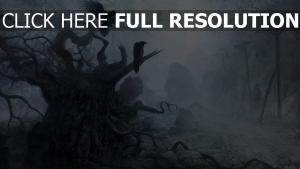 bois sinistre corbeau fog