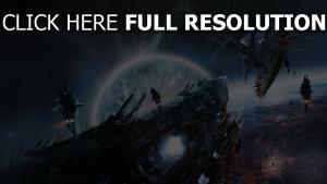 vaisseau spatial volée orbite bataille