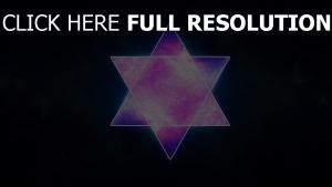 étoile de david gros plan pourpre