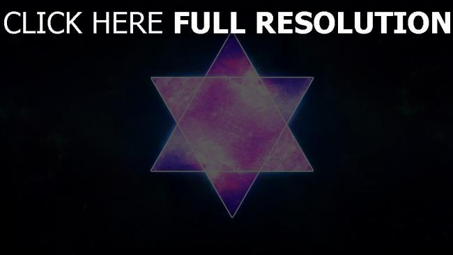 fond d'écran hd étoile de david gros plan pourpre