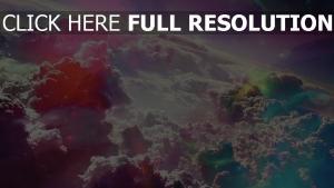 nuage vue de dessus multicolore merveilleux