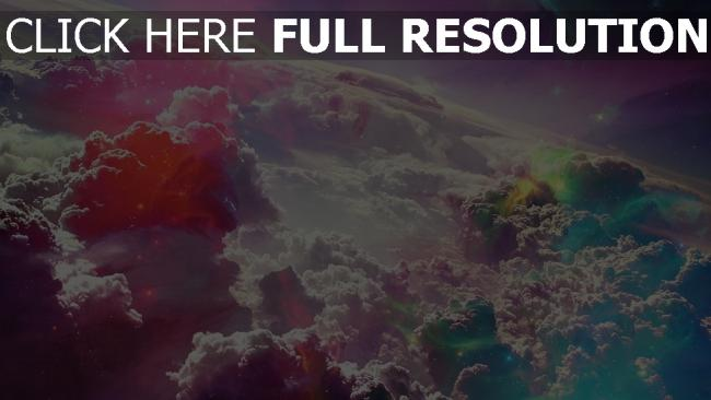 fond d'écran hd nuage vue de dessus multicolore merveilleux