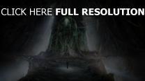 grotte ancien robot silhouette