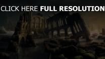 métro ruines vue de face
