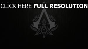 logo assassin's creed foncé arrière-plan