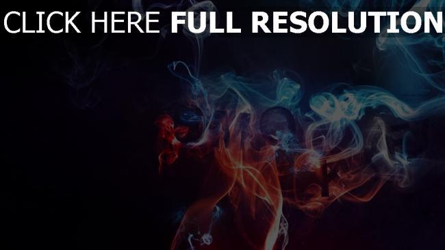 fond d'écran hd fumée multicolore rouge bleu