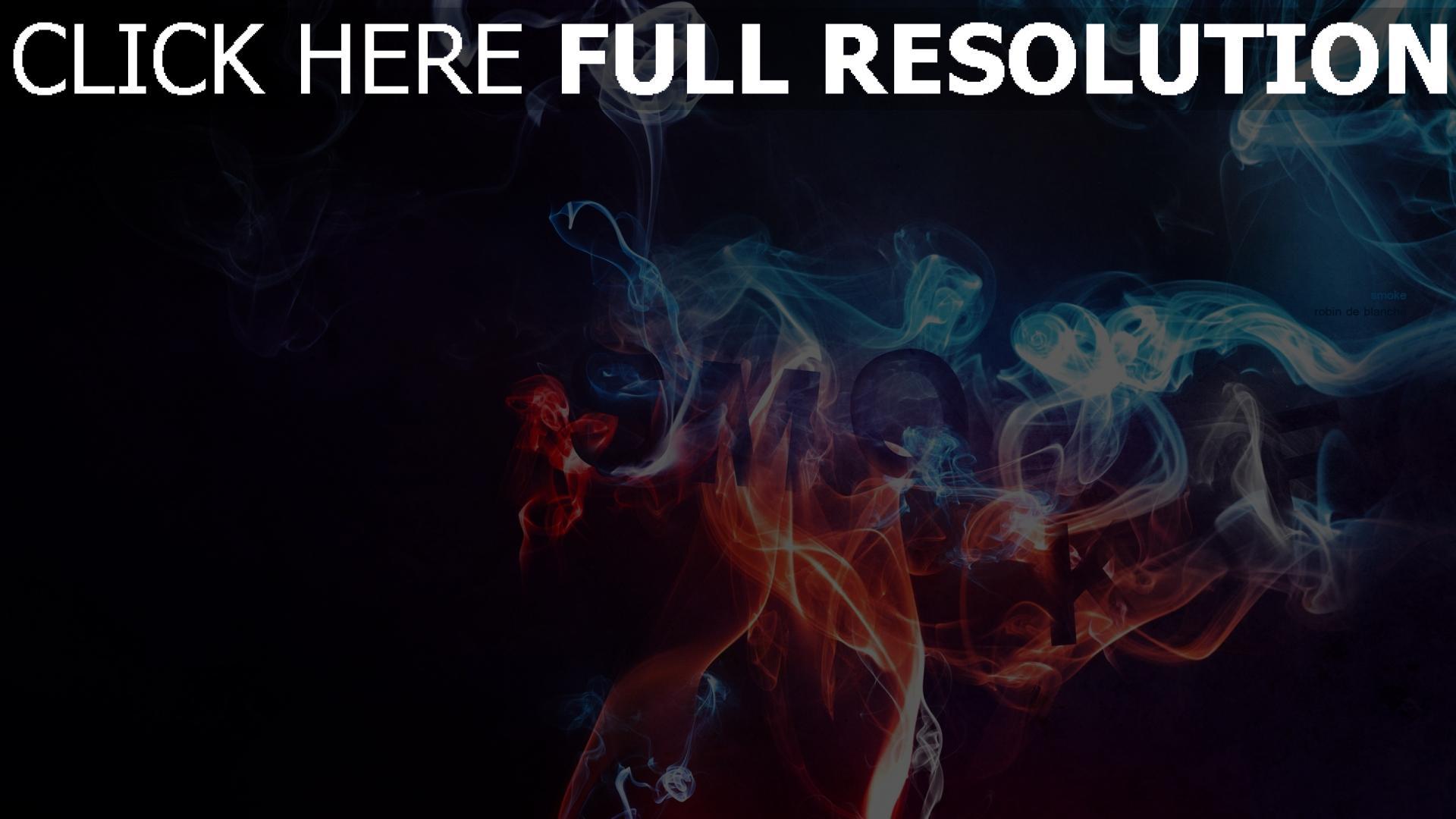 fond d'écran 1920x1080 fumée multicolore rouge bleu