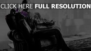 batman arkham city noir et blanc joker