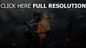 battlefield 3 soldat feu squelette