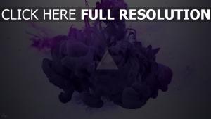 triangle fumée peinture éclaboussure