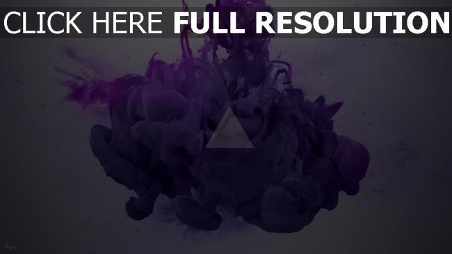 fond d'écran hd triangle fumée peinture éclaboussure