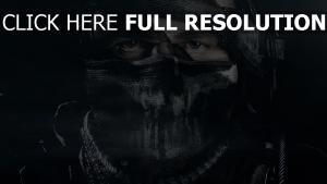 call of duty soldat masque visage