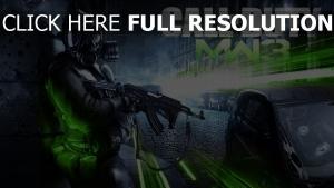 call of duty masque a gaz fusil d'assaut