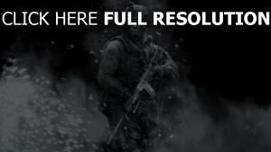 call of duty tempête de neige soldat