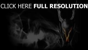 dark souls casque démon fumée