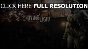 dying light affiche masque a gaz