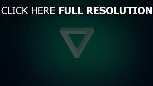 triangle inversé turquoise