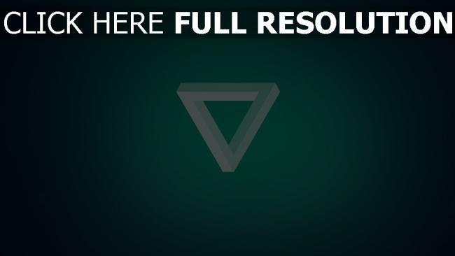 fond d'écran hd triangle inversé turquoise
