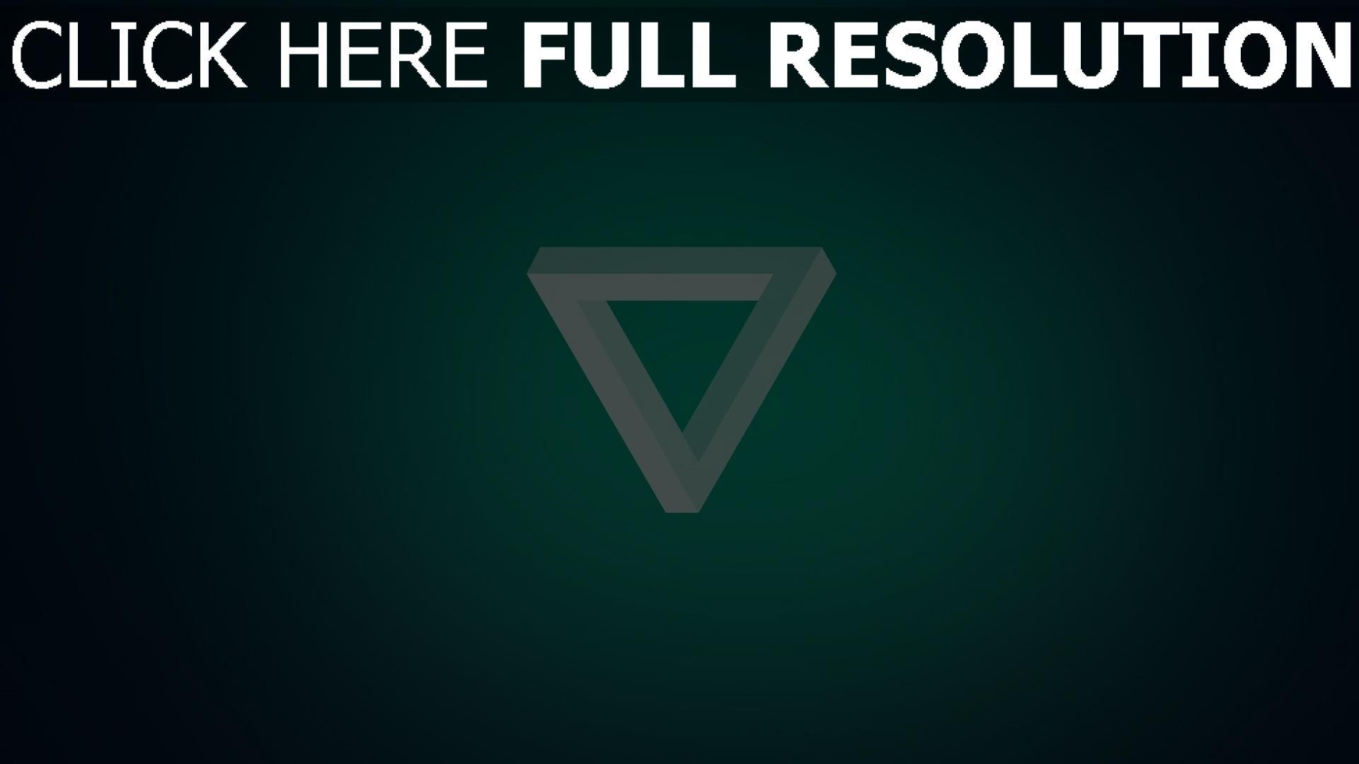 fond d'écran 1920x1080 triangle inversé turquoise