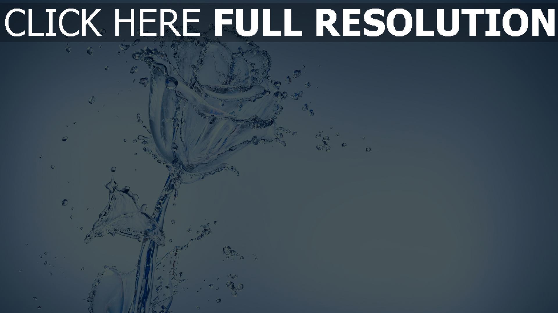 fond d'écran 1920x1080 rose éclaboussure eau