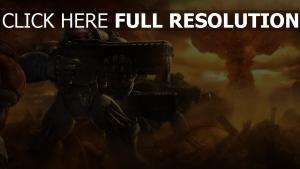 starcraft 2 explosion nucléaire infanterie