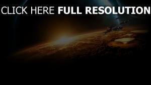 starcraft 2 cuirassé spatial satellite