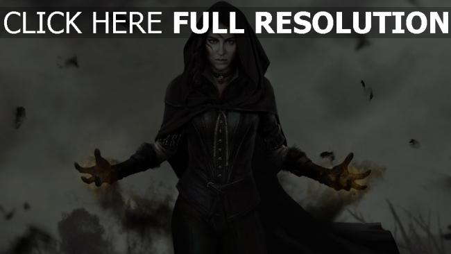 fond d'écran hd witcher 3 yennefer sort de magie enchanteresse